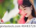 여자 여성 대학생 소녀 귀여움 도시 낭만 여유  46483726