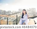 女大学生女孩可爱的城市浪漫 46484070