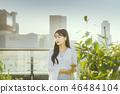 여자 여성 대학생 소녀 귀여움 도시 낭만 여유  46484104