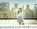 여자 여성 대학생 소녀 귀여움 도시 낭만 여유  46484129