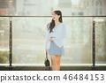 여자 여성 대학생 소녀 귀여움 도시 낭만 여유  46484153