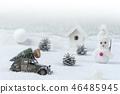 white Christmas background  46485945