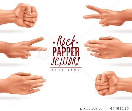 Rock Paper Scissors Background 46491110