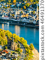 Aerial view of Filsen and Boppard towns with the Rhine in Germany 46491370
