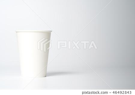 종이컵, 컵, 용기, 흰색배경 46492843