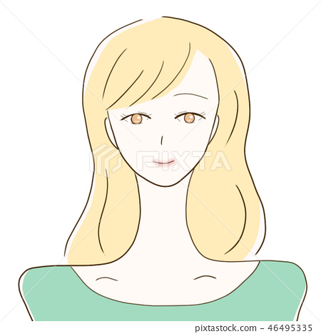 여성 세미 미소 46495335
