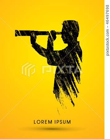 Telescope looking, Business, Vision vector 46497698