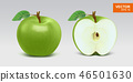 苹果 绿色 水果 46501630
