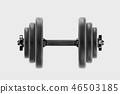 dumbbell equipment bodybuilding 46503185