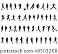 runner, marathon, vector 46503208