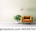 armchair, interior, room 46506794