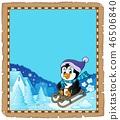 Sledging penguin theme parchment 1 46506840