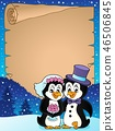 paper wedding penguin 46506845