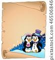Penguin wedding theme parchment 1 46506846
