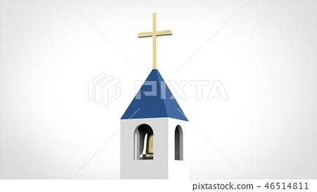 教堂的钟声 46514811