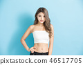 young woman with healthy body 46517705