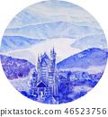 노이 바이 슈타인 성 설경 필기 스케치 유럽 고성 46523756