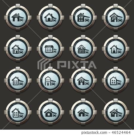 house type icons set 46524464