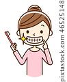漂亮的牙齿女人 46525148