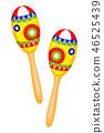 Colorful cartoon maracas 46525439