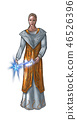 Concept Art Fantasy Illustration of Beautiful Young Woman Priestess, Sorceress or Witch 46526396