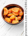 Dried apricots in the bowl 46526861