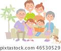 Family of six people sofa 46530529