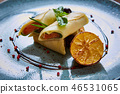 Crepes with smoked salmon  46531065