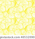 pattern, lemon, sliced 46532090