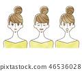 女人 - 面部表情 46536028