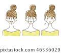 女人 - 面部表情 46536029