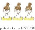 女人 - 面部表情 46536030