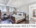 Bedroom interior in a new house. Interior design 46537708