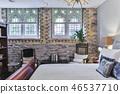 Bedroom interior in a new house. Interior design 46537710