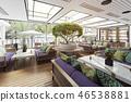 terrace restaurant interior 46538881