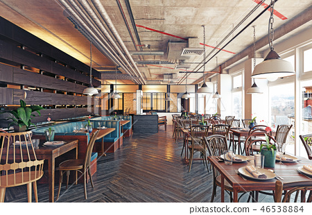 modern restaurant interior design. 46538884