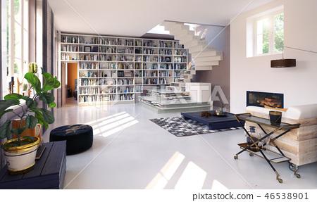 modern living interior. 46538901