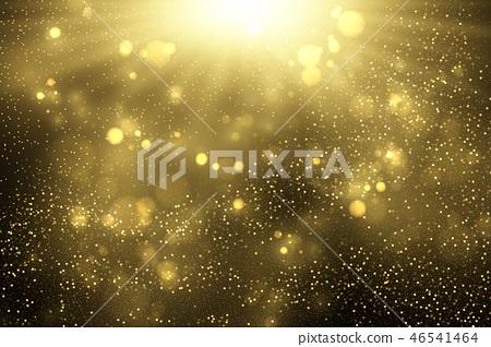Sparkling golden dust explosion 46541464