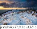 Sunset over Bieszczady Mountains, Poland 46543215