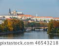 Embankment of the Vltava river in Prague 46543218
