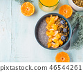 Chia pudding with tangerines and granola 46544261