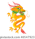 Chinese traditional dragon  46547923