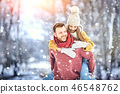 winter, outdoors, park 46548762