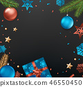 Christmas eve concept. Top view. Vector 46550450