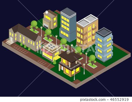 Suburbia Buildings Illustration 46552919