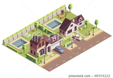 Suburban Buildings Community Composition 46554222