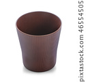 Brown cup isolated 46554505