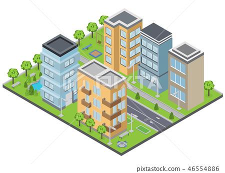 Suburbia Buildings Composition 46554886