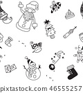 christmas element icons banner background - Vector 46555257
