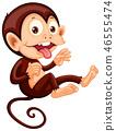 A playful monkey character 46555474